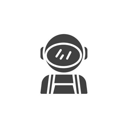 Space suit vector icon. filled flat sign for mobile concept and web design. Astronaut, Spaceman glyph icon. Symbol illustration. Vector graphics