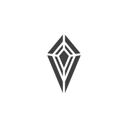 Diamond stone vector icon. Brilliant filled flat sign for mobile concept and web design. Gemstone, gem glyph icon. Symbol illustration. Vector graphics 向量圖像
