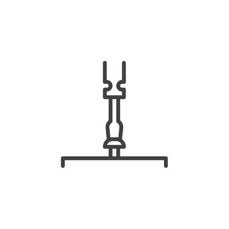 Screwdriver tightening the screw line icon. linear style sign for mobile concept and web design. Screw and screwdriver outline vector icon. Home repair service symbol illustration. Illustration