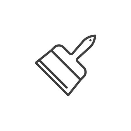 Putty knife tool line icon. linear style sign for mobile concept and web design. Scraper spatula outline vector icon. Symbol illustration. Vector graphics