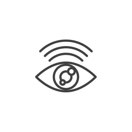 Find internet connection line icon. linear style sign for mobile concept and web design. Search Wifi signal outline vector icon. Symbol illustration. Vector graphics