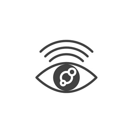Find internet connection vector icon. filled flat sign for mobile concept and web design. Search wi-fi signal glyph icon. Symbol illustration. Vector graphics Ilustração