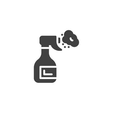 Spray cleaner bottle vector icon. filled flat sign for mobile concept and web design. Dispenser, sprayer glyph icon Illusztráció