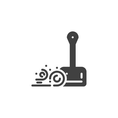 Scoop and dust vector icon. Dustpan filled flat sign for mobile concept and web design. Cleaning scoop glyph icon