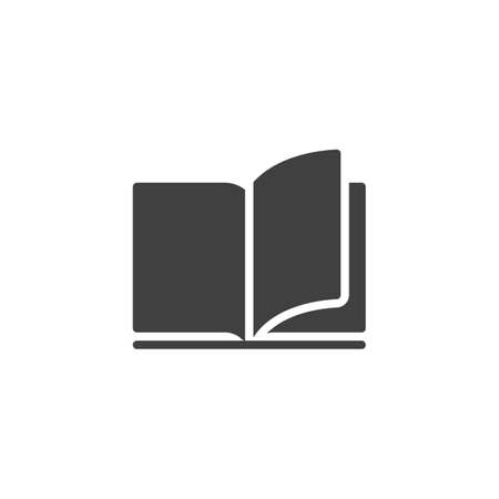 Open book pages vector icon. filled flat sign for mobile concept and web design. Reading, library book glyph icon