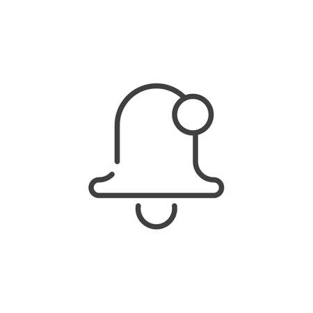 Notification bell line icon. linear style sign for mobile concept and web design. Alarm bell notice outline vector icon