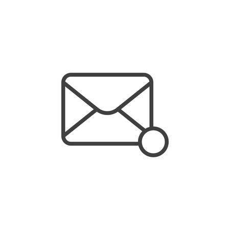 Message notification line icon. New email notice linear style sign for mobile concept and web design. Envelope mail notification outline vector icon