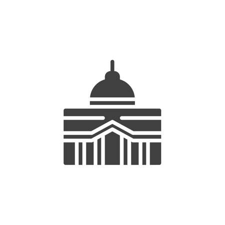 Capitol building vector icon. filled flat sign for mobile concept and web design. City hall building glyph icon