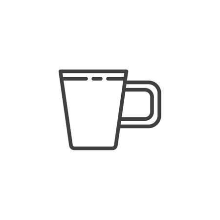 Coffee mug line icon. linear style sign for mobile concept and web design. Tea cup outline vector icon. Symbol, illustration. Vector graphics