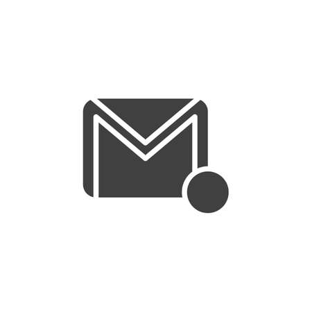 Email notification vector icon. filled flat sign for mobile concept and web design. Envelope, mail message notice glyph icon. Symbol, illustration. Vector graphics