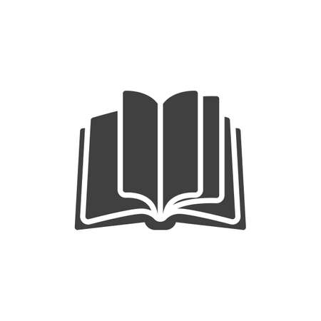 Open book pages vector icon. filled flat sign for mobile concept and web design. Book glyph icon. Knowledge symbol, logo illustration. Vector graphics