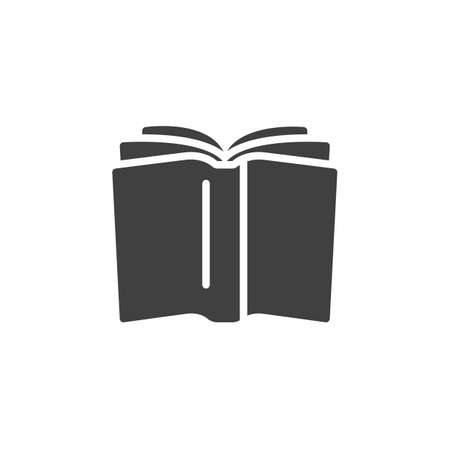 Open book vector icon. filled flat sign for mobile concept and web design. Book page turn glyph icon. Knowledge symbol, logo illustration. Vector graphics