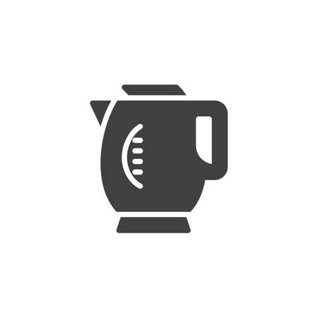 Electric kettle vector icon. filled flat sign for mobile concept and web design. Coffee pot, teapot glyph icon. Symbol, logo illustration. Vector graphics
