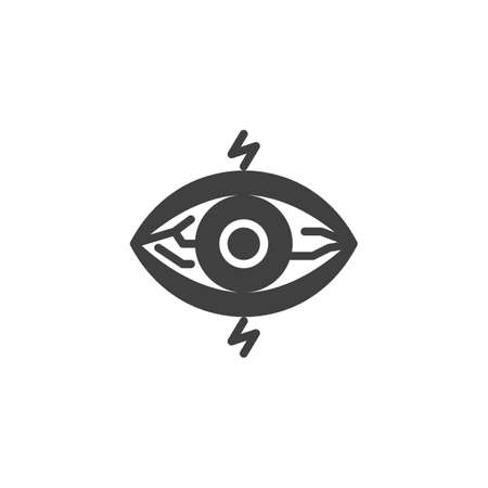 Eyes sore, pain vector icon. filled flat sign for mobile concept and web design. Eye disease glyph icon. Conjunctivitis eye symbol, logo illustration. Vector graphics