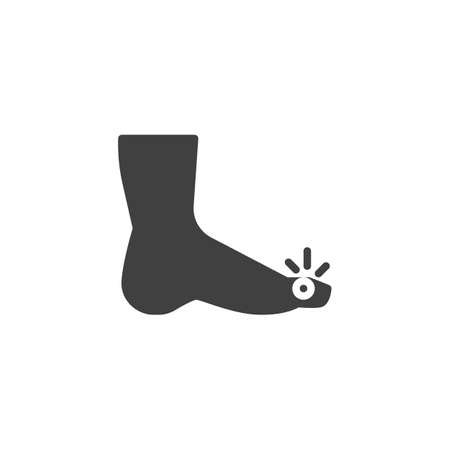 Foot finger pain vector icon. filled flat sign for mobile concept and web design. Foot injury glyph icon. Symbol, logo illustration. Vector graphics Stock Illustratie