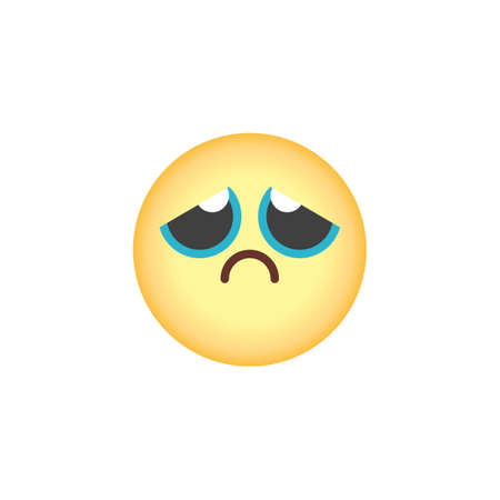 Unhappy face emoticon flat icon, Sad face emoji vector sign, colorful pictogram isolated on white. Symbol, logo illustration. Flat style design