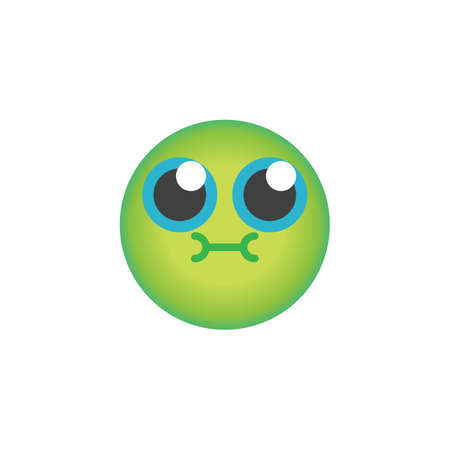 Vomiting face emoticon flat icon, Nauseous emoji vector sign, colorful pictogram isolated on white. Symbol, logo illustration. Flat style design Illustration