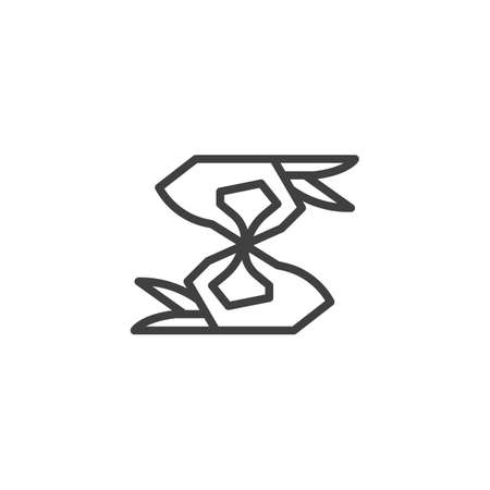 Disability deaf sign line icon. linear style sign for mobile concept and web design. Deafness outline vector icon. Symbol, logo illustration. Vector graphics Stock Illustratie