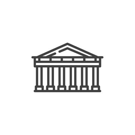 Athens famous landmark line icon. linear style sign for mobile concept and web design. Greece City buildings outline vector icon. Europe Travel symbol, logo illustration. Vector graphics