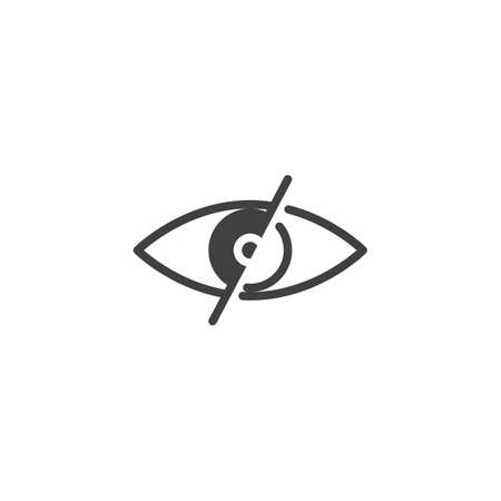 Eye, Blind vector icon. filled flat sign for mobile concept and web design. No looking, disabled eye glyph icon. Symbol, logo illustration. Vector graphics
