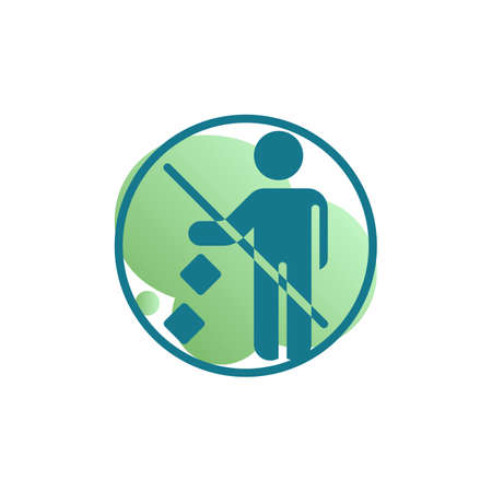 Do not litter icon vector, Keep it clean filled flat sign, bicolor pictogram, green colors. Symbol, logo illustration
