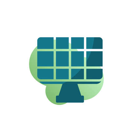Solar panel icon vector, filled flat sign, Alternative sun energy bicolor pictogram, green colors. Symbol, logo illustration Stock Illustratie