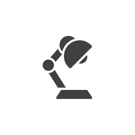 Desk lamp vector icon. filled flat sign for mobile concept and web design. Flexible lamp glyph icon. Symbol, logo illustration. Vector graphics Иллюстрация