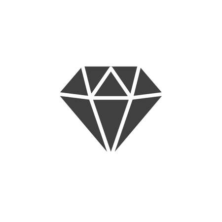 Diamond vector icon. Gaming, precious crystal stone filled flat sign for mobile concept and web design. Game diamond glyph icon. Symbol, illustration. Vector graphics