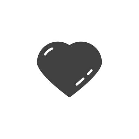 Abstract heart vector icon. filled flat sign for mobile concept and web design. Heart, life glyph icon. Love symbol, illustration. Vector graphics Ilustração