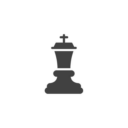 Chess king vector icon. filled flat sign for mobile concept and web design. King chess figure glyph icon. Symbol, illustration. Vector graphics Ilustrace