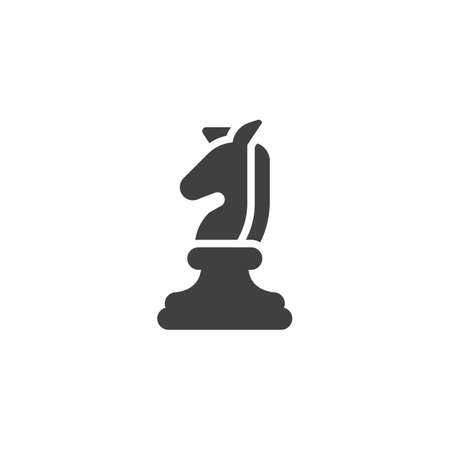 Horse Chess piece vector icon. filled flat sign for mobile concept and web design. Knight chess figure glyph icon. Symbol, illustration. Vector graphics 일러스트