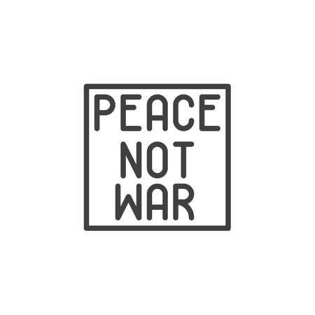 Peace, not war line icon. linear style sign for mobile concept and web design. International peace day outline vector icon. Symbol, logo illustration. Vector graphics