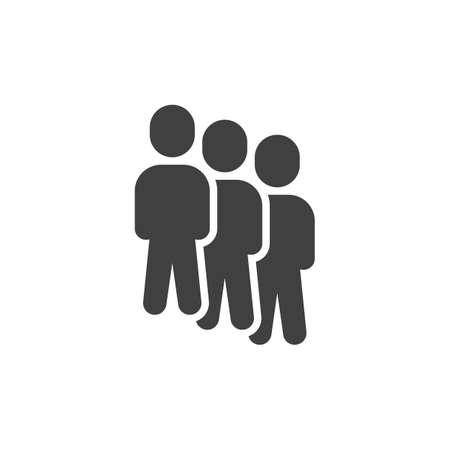Teamwork group vector icon. Staff filled flat sign for mobile concept and web design. Three people group glyph icon. Symbol, illustration. Vector graphics