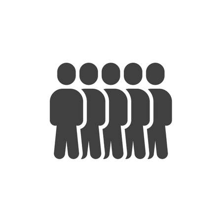 Team group people vector icon. Staff filled flat sign for mobile concept and web design. Crowd of people glyph icon. Symbol, logo illustration. Vector graphics  イラスト・ベクター素材