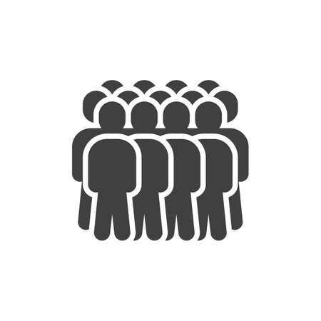 Colleagues group vector icon. Team, staff filled flat sign for mobile concept and web design. Crowd of people glyph icon. Symbol, illustration. Vector graphics  イラスト・ベクター素材