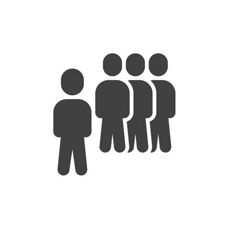 Team group leader vector icon. Teamwork, staff filled flat sign for mobile concept and web design. Group of people glyph icon. Symbol, illustration. Vector graphics