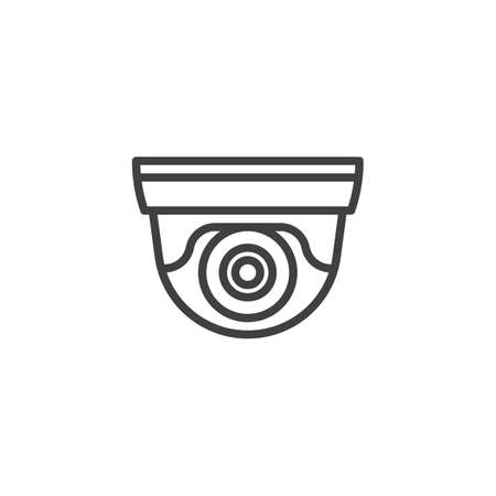 cctv camera line icon. surveillance linear style sign for mobile concept and web design. Security camera outline vector icon. Symbol, illustration. Vector graphics