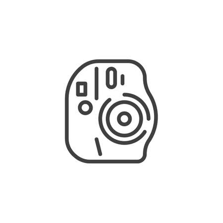Digital camera line icon. linear style sign for mobile concept and web design. Camera outline vector icon. Symbol,  illustration. Vector graphics