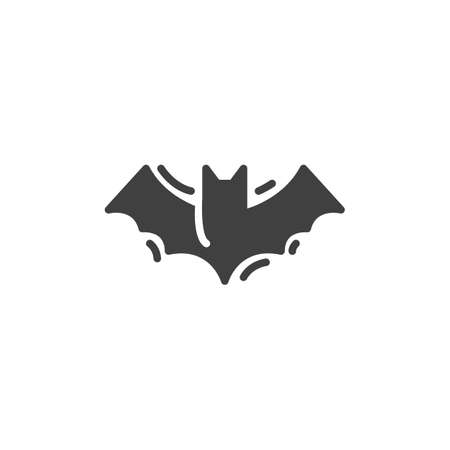 Halloween bat vector icon. filled flat sign for mobile concept and web design. Flying bat glyph icon. Symbol, illustration. Vector graphics 向量圖像