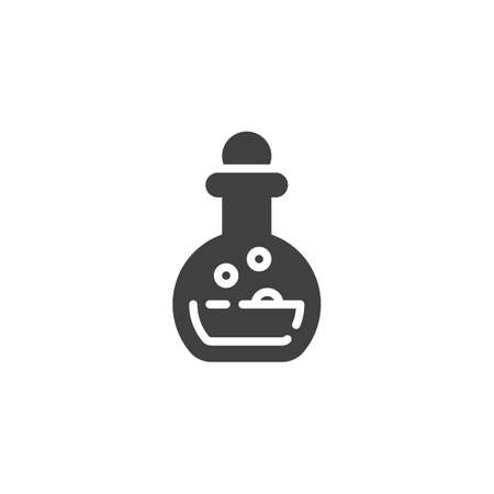 Elixir bottle vector icon. filled flat sign for mobile concept and web design. Potion flask glyph icon. Symbol, illustration. Vector graphics