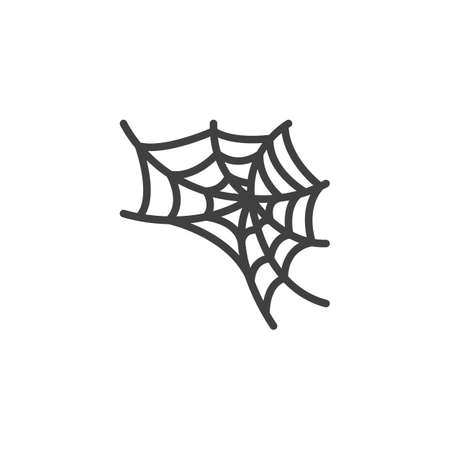 Spider web vector icon. filled flat sign for mobile concept and web design. Halloween spiderweb glyph icon. Symbol,  illustration. Vector graphics Ilustrace