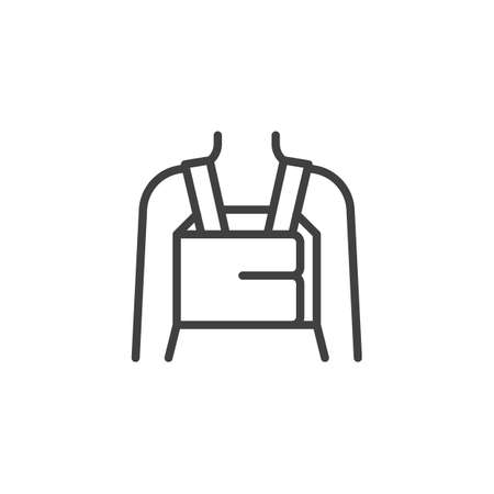 Orthopedic Lumbar Brace line icon. linear style sign for mobile concept and web design. Posture Corrector outline vector icon. Symbol, illustration. Vector graphics