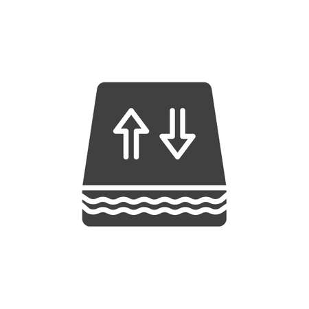 Breathable mattresses vector icon. filled flat sign for mobile concept and web design. Flexibility orthopedic mattress glyph icon. Symbol, illustration. Vector graphics 스톡 콘텐츠 - 129811079
