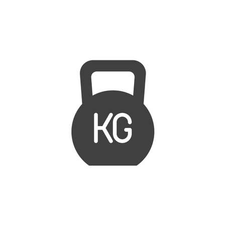 Weight kg vector icon. filled flat sign for mobile concept and web design. Gym Weight glyph icon. Symbol, illustration. Vector graphics