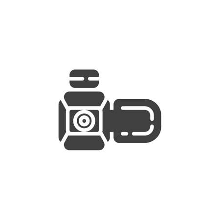 Camcorder camera vector icon. filled flat sign for mobile concept and web design. Video camera glyph icon. Symbol, logo illustration. Vector graphics