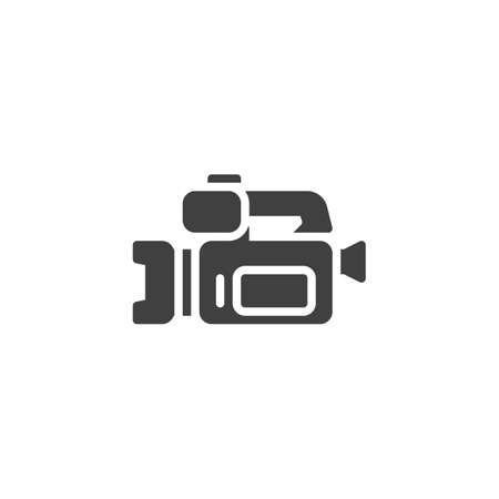 Camcorder vector icon. filled flat sign for mobile concept and web design. Video camera glyph icon. Symbol, logo illustration. Vector graphics