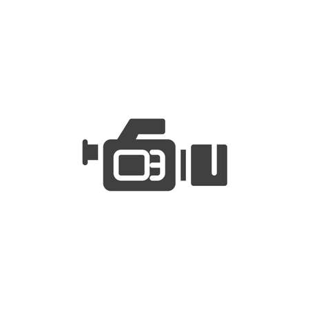Movie camera vector icon. filled flat sign for mobile concept and web design. Camcorder glyph icon. Symbol, logo illustration. Vector graphics