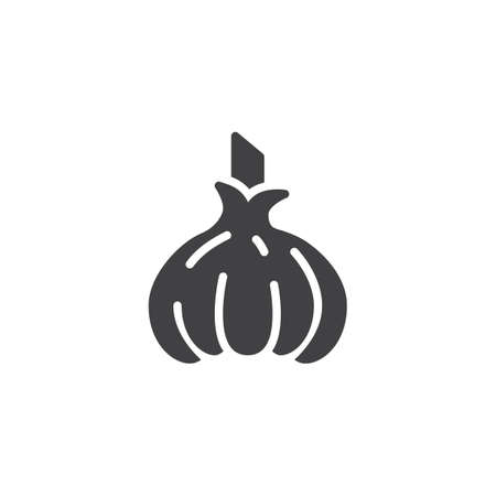 Raw garlic vector icon. filled flat sign for mobile concept and web design. Garlic glyph icon. Symbol, logo illustration. Vector graphics Stock Illustratie