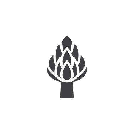 Icône de vecteur d'asperges. signe plat rempli pour le concept mobile et la conception web. Icône de glyphe d'herbe de moineau. Symbole, illustration du logo. Graphiques vectoriels