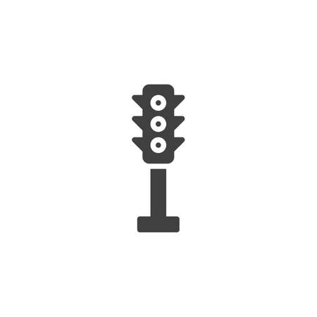 Traffic light vector icon. filled flat sign for mobile concept and web design. Stoplight glyph icon. Symbol, logo illustration. Vector graphics